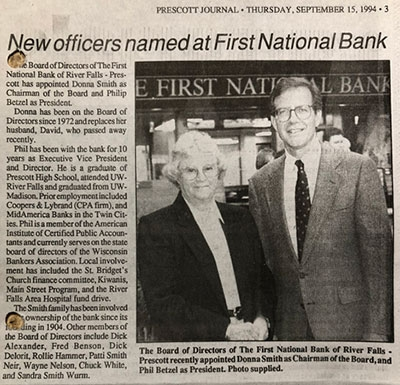 First National Bank History - 53 - 1994