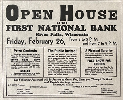 First National Bank History - 14 - 1936