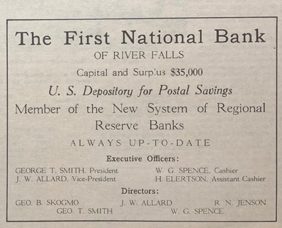 First National Bank History - 5 - 1914